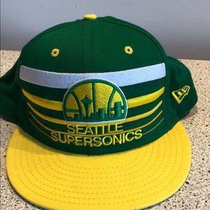 New Era Seattle Supersonics retro snapback hat